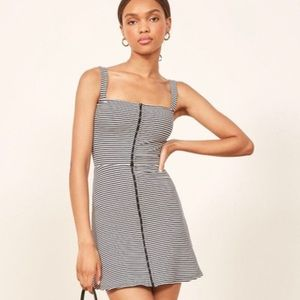 Reformation Nellie Dress in Canne Stripe Small